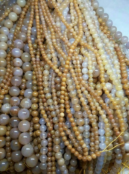 chalcedony agate beads